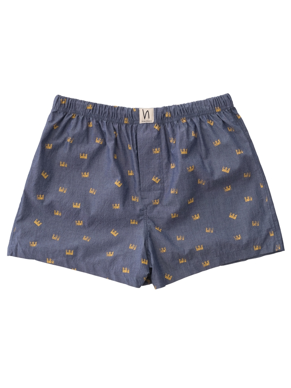 Boxers Chambray Crowns Indigo boxers underwear