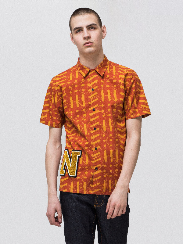 Brandon Batik Terra shirts short-sleeved