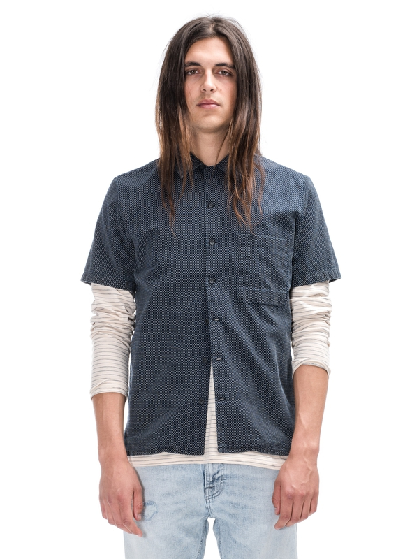 Brandon Cross Shirt Indigo
