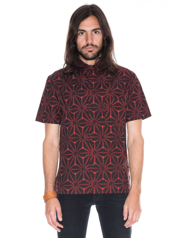 Brandon Ikat Print Black/Red shirts