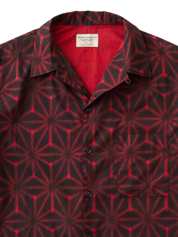 Brandon Ikat Print Black/Red