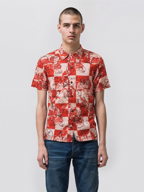 Brandon Roses Mantle Red short-sleeved shirts