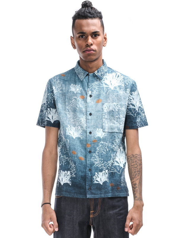 Brandon Seaweed Shirt Blue shirts