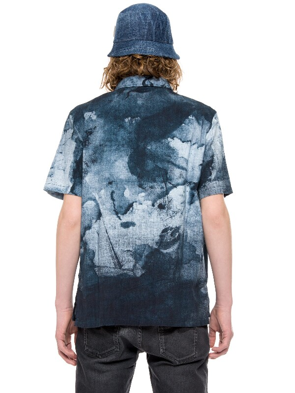 Brandon Smudge Print Black/Blue