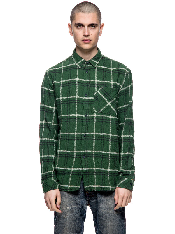 Calle Canadian Check Grass long-sleeved shirts