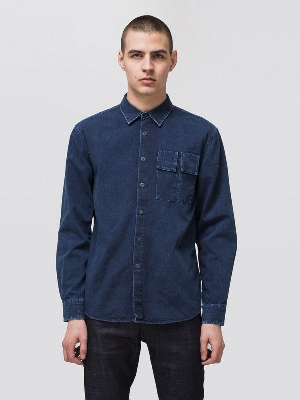 Calle Dark Authentic Denim long-sleeved shirts long-sleeved-denim