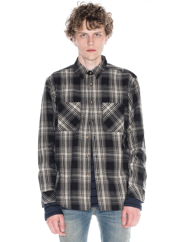 Calle Shadow Check Black shirts