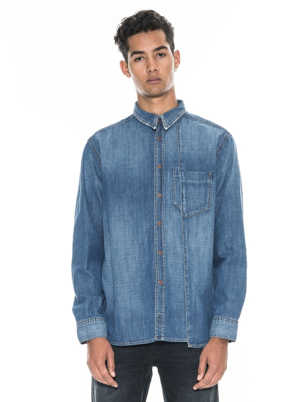 Calle Skewed Denim shirts