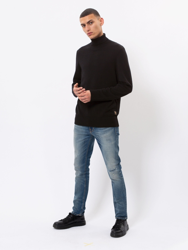 Cornelis Roll Neck Black knits