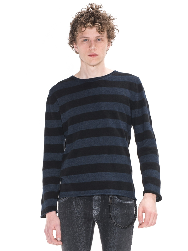 Dale Wool Striped Indigo knits