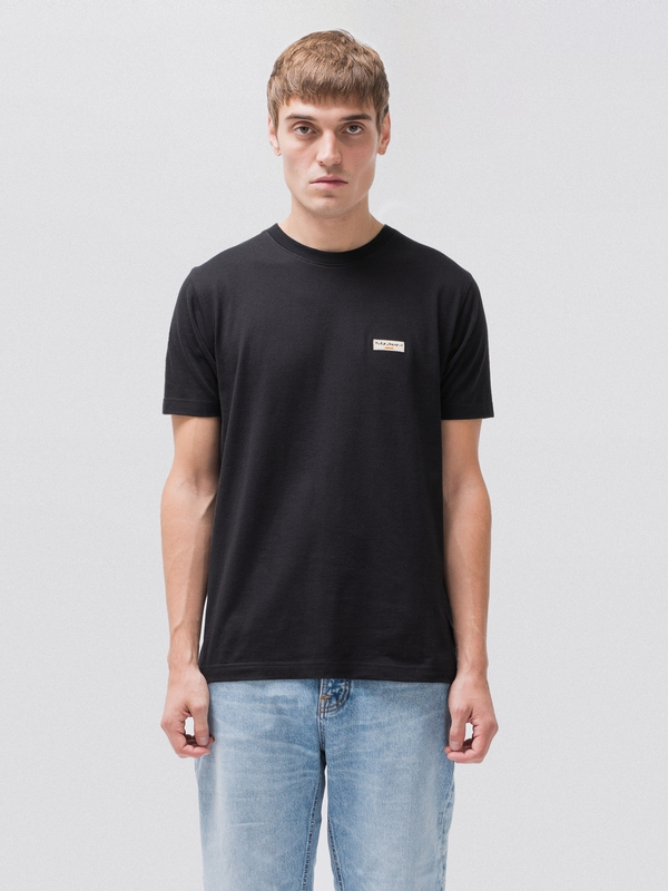 Daniel Logo Tee Black short-sleeved tees solid