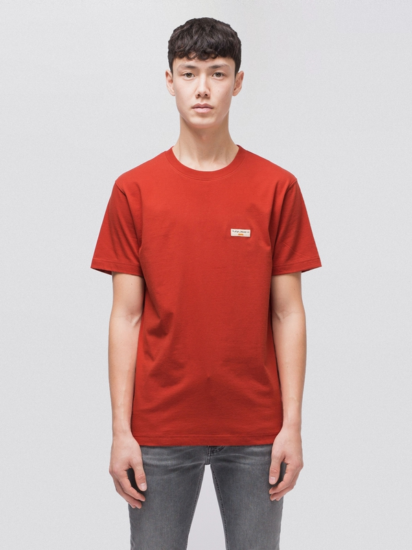 Daniel Logo Tee Ketchup short-sleeved tees solid