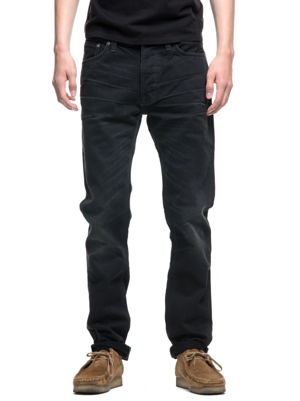Dude Dan Black Worn Rigid black jeans