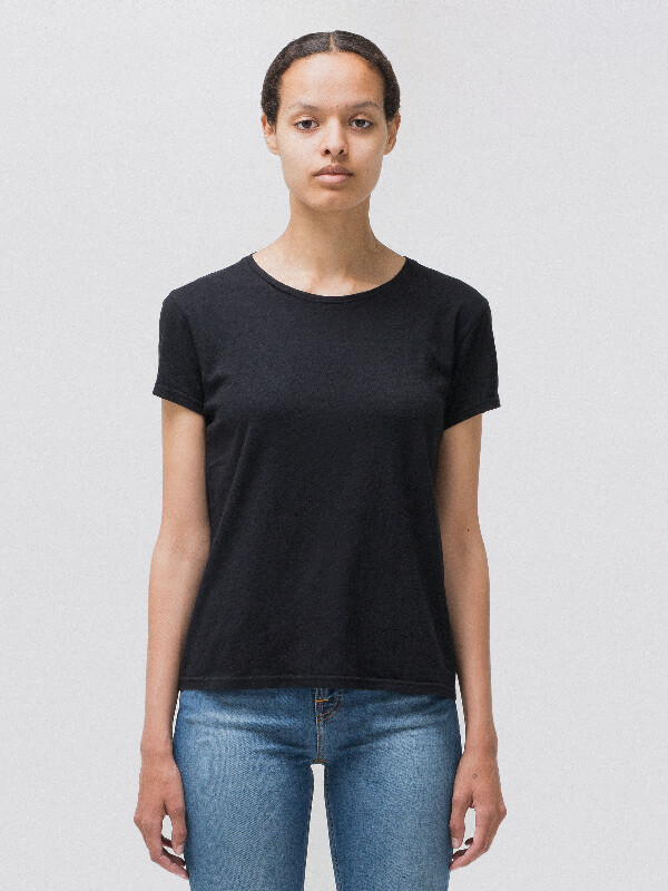 Ebba Top Black short-sleeved tees