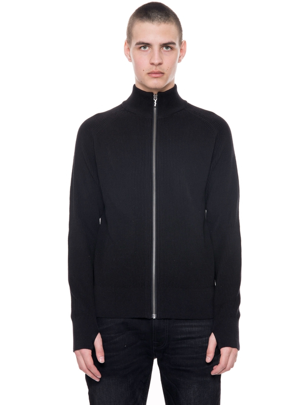 Einar Zip Cardigan Black knits