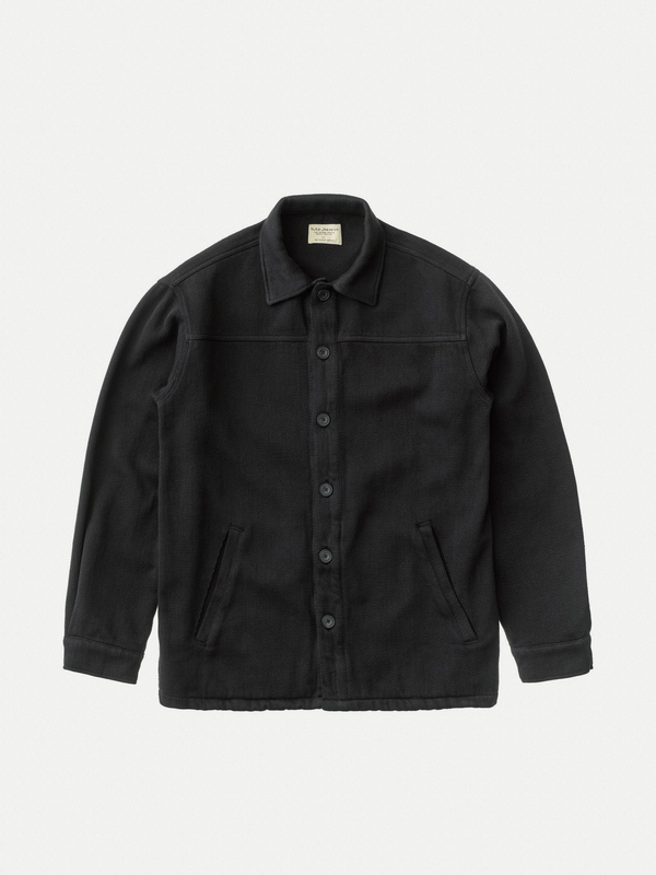 Elias Twill Overshirt Black