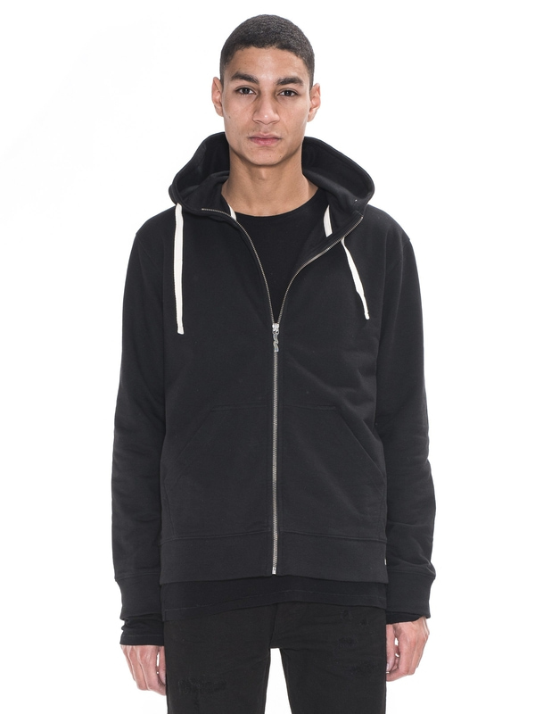 Elvin Light Zip Hood Black sweatshirts sweaters