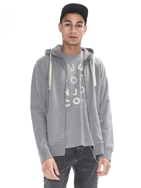 Elvin Light Zip Hood Dark Grey sweatshirts sweaters