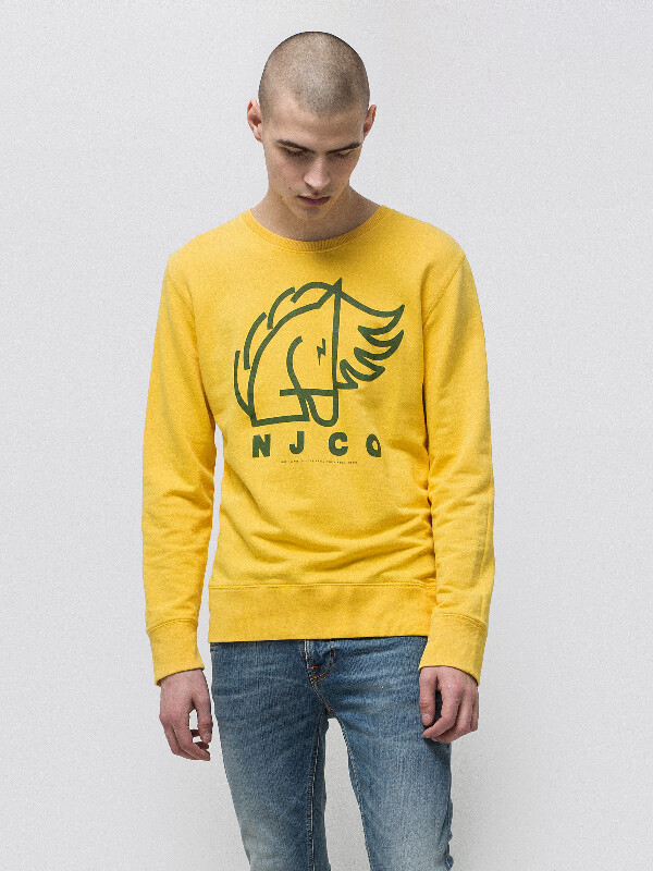Evert Backahasten Sun Yellow sweatshirts sweaters