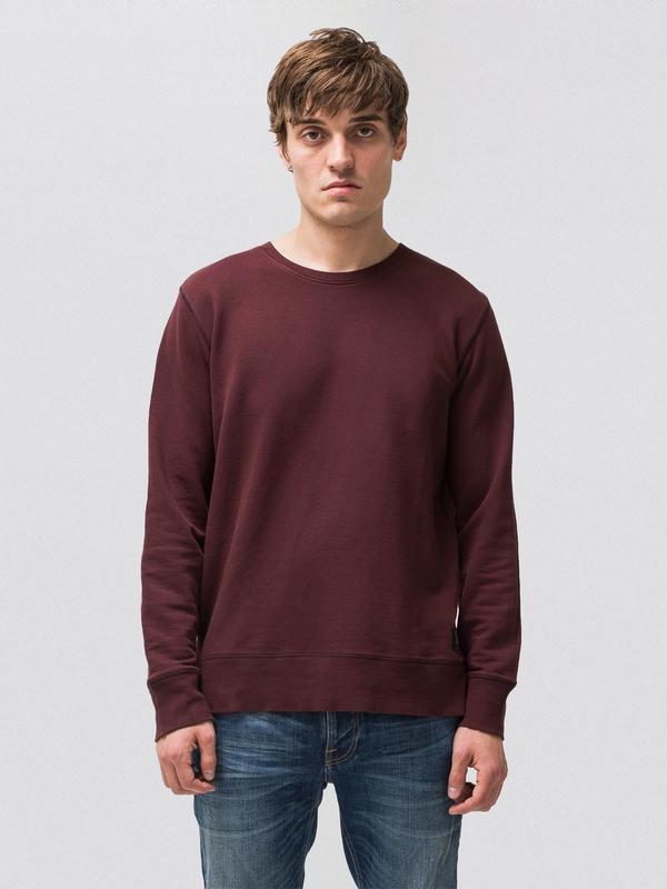 Evert Light Sweatshirt Plum sweatshirts sweaters