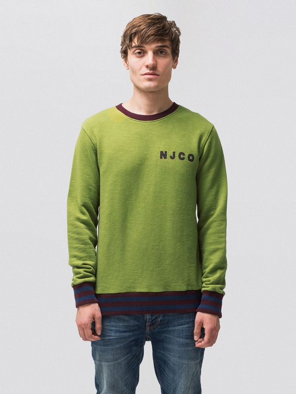 Evert NJCO Stripes Pea sweatshirts sweaters