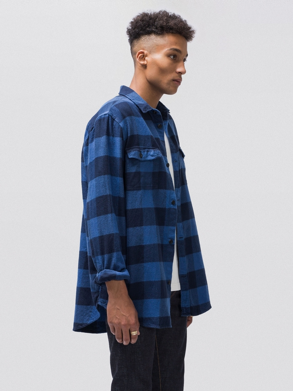 Gabriel Plaid Check Blue long-sleeved shirts