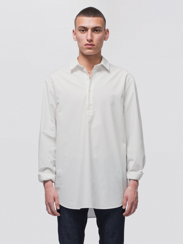 Gabriel Popover Dusty White long-sleeved shirts