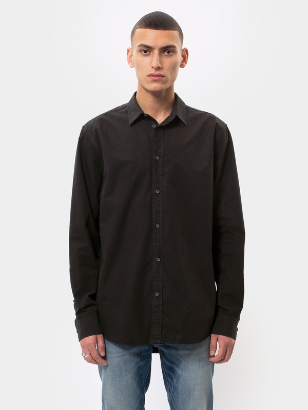 Gabriel Plain Black long-sleeved shirts