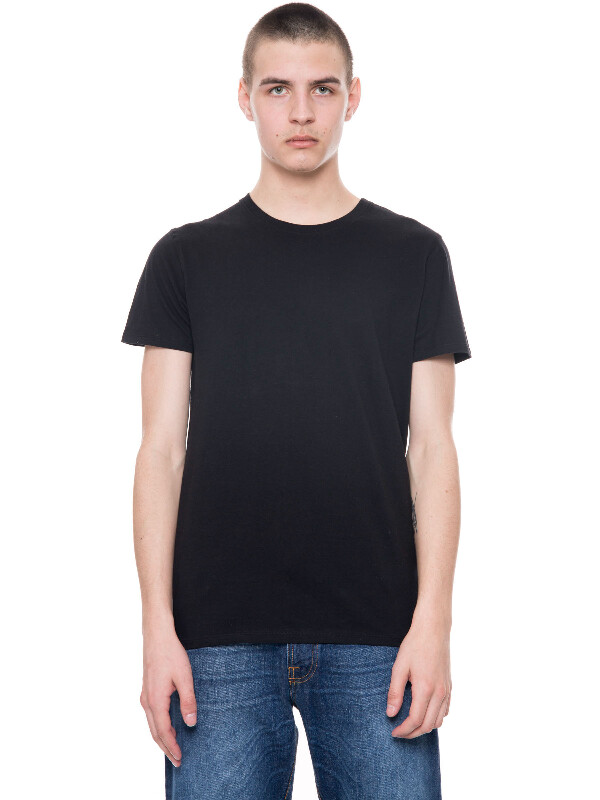 Glenn Tee Black short-sleeved tees solid