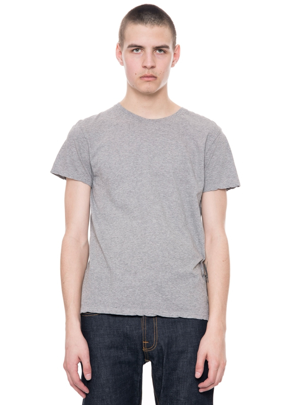 Glenn Tee Greymelange short-sleeved tees solid