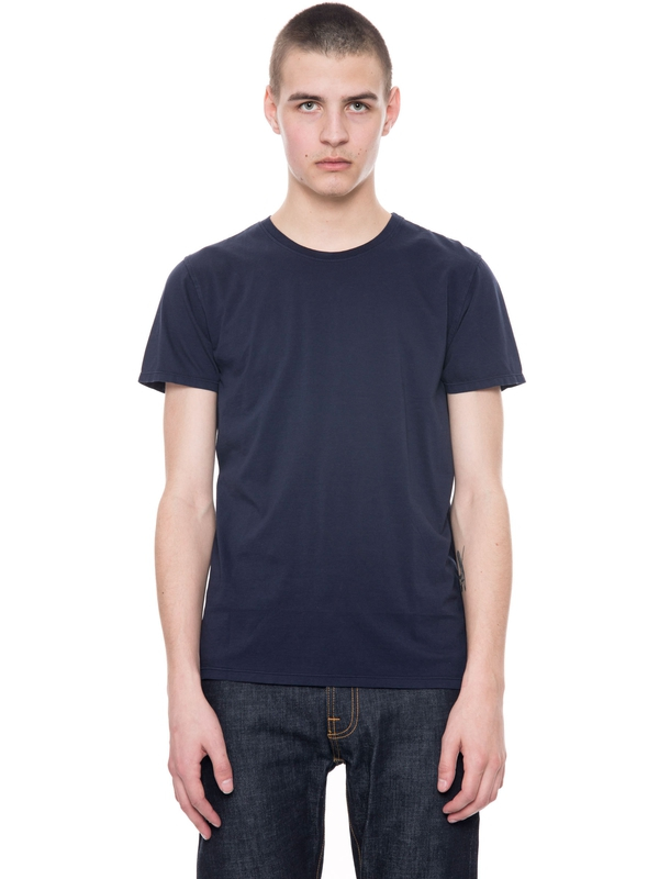 Glenn Tee Navy short-sleeved tees solid