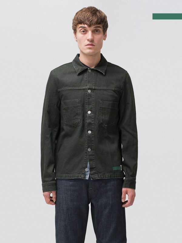 Ronny Army Coated Indigo denim-jackets