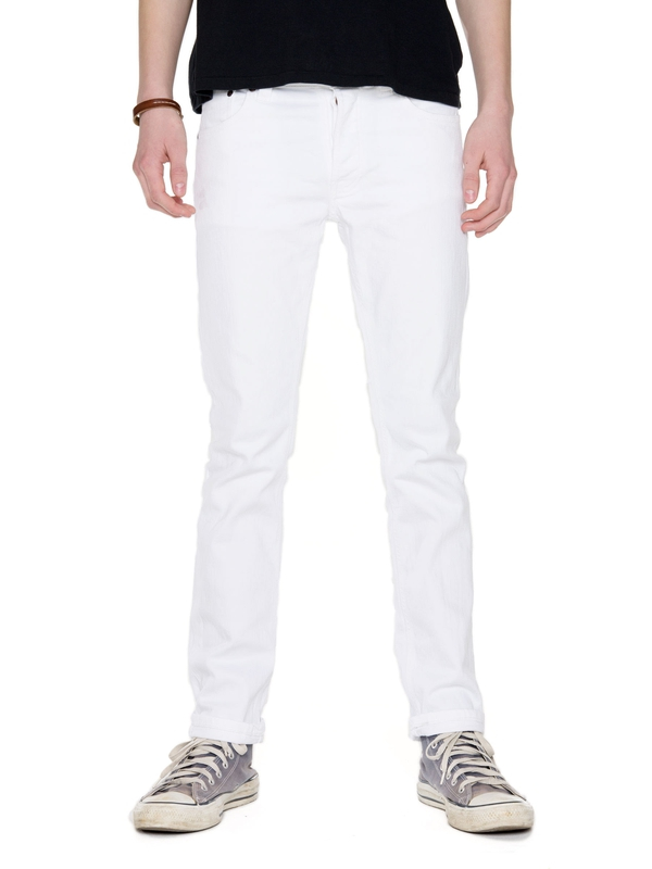 Grim Tim Clean White prewashed jeans