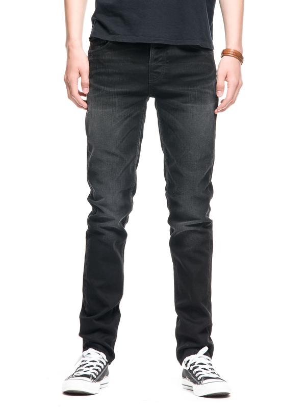 Grim Tim Deep Black Worn prewashed jeans black