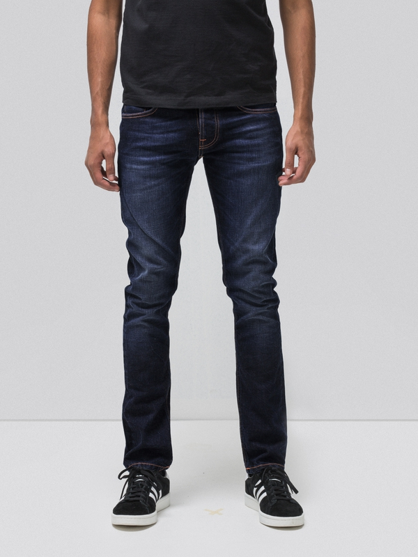 Grim Tim Ink Navy prewashed jeans