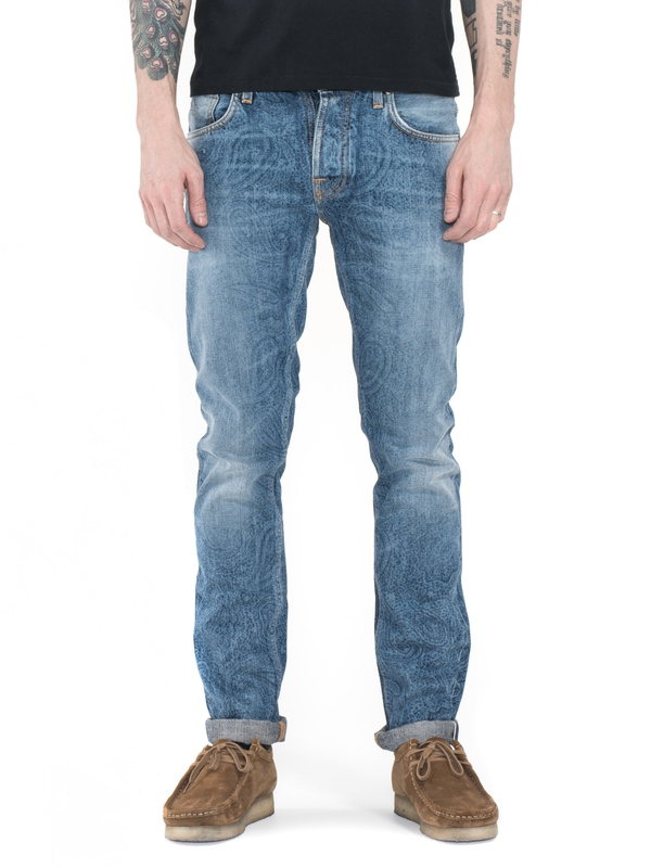 Grim Tim Liberty Used Selvage prewashed jeans