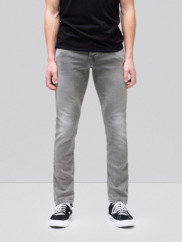Grim Tim Light Grey Trashed prewashed jeans