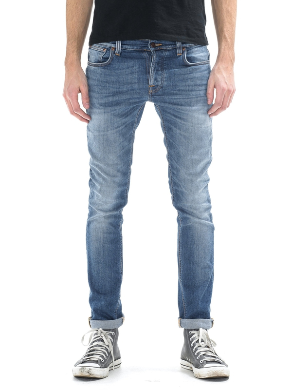 Grim Tim Orange Cloud prewashed jeans