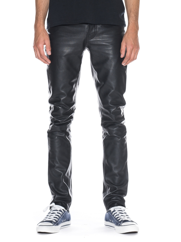 Grim Tim Black Leather black jeans