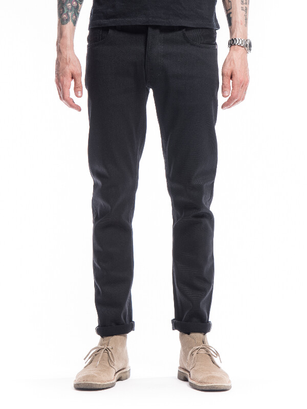 Grim Tim Dry Black Selvage black jeans selvage