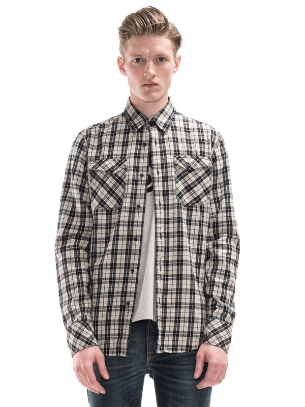 Gunnar Light Twill Check Black shirts