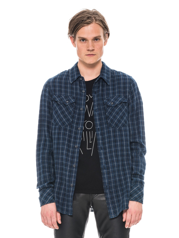 Gunnar Rope Twill Check Indigo shirts
