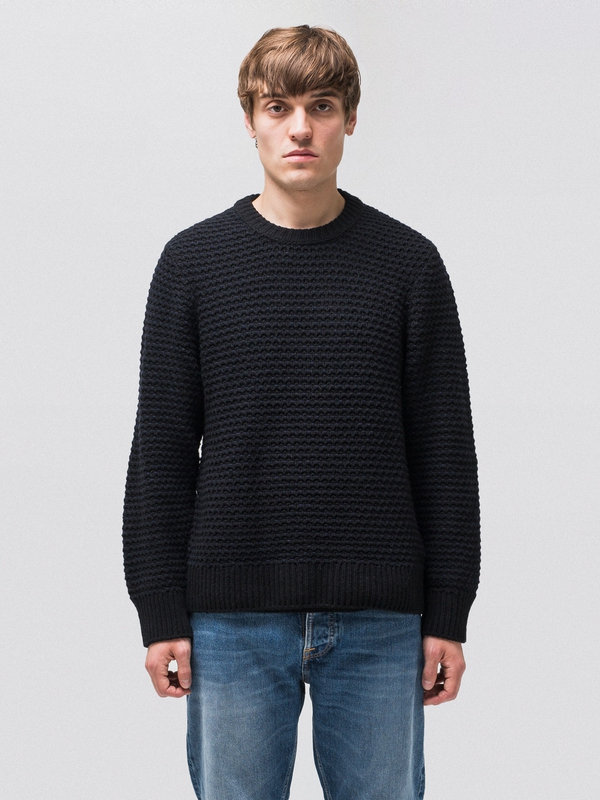 Hampus Basket Knit Black knits