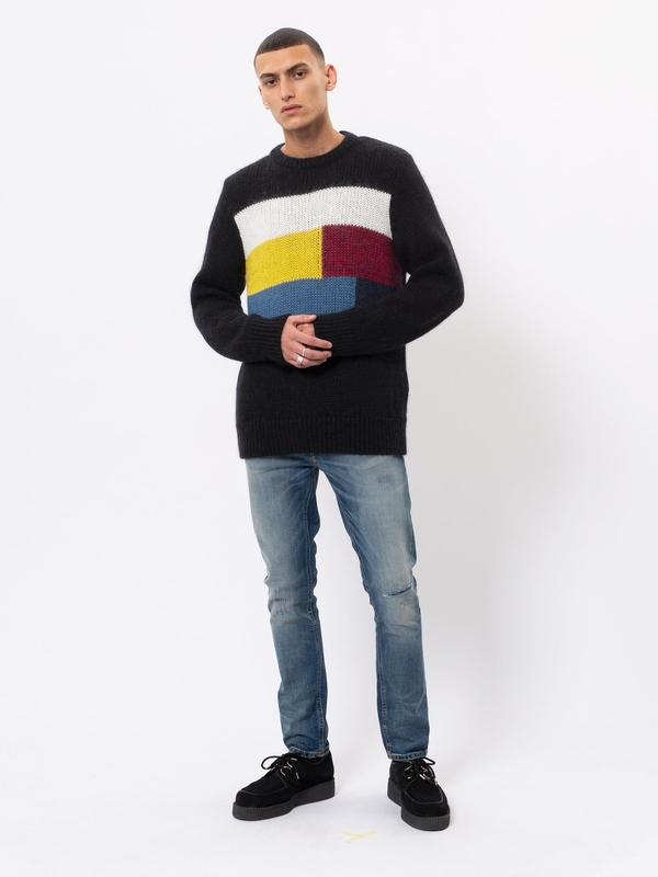 Hampus Patch Knit Black knits
