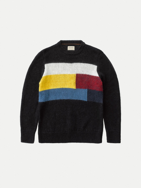Hampus Patch Knit Black