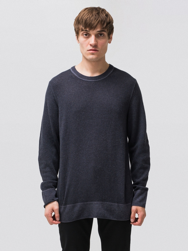 Hampus Printed Wool Antracite knits