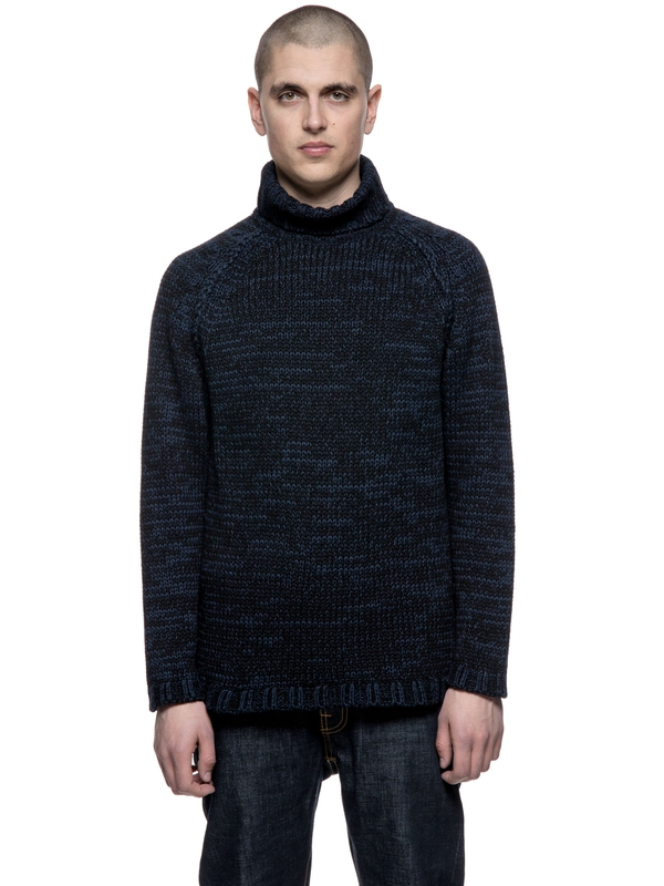 Hans Indigo Turtle Black/Blue knits