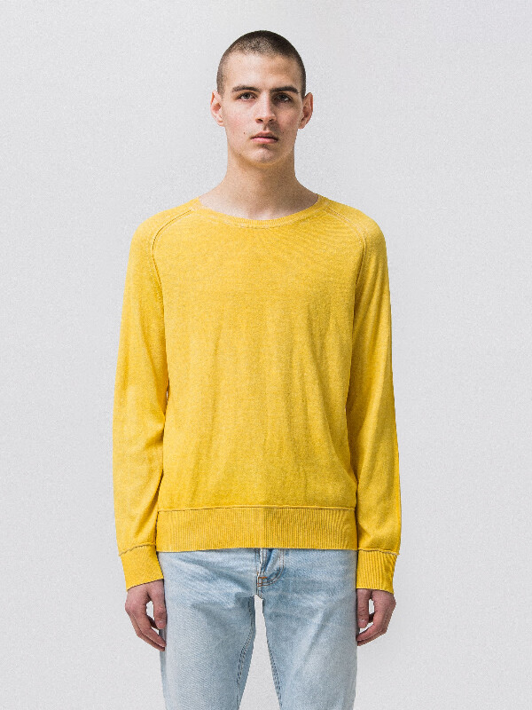 Hans Overprint Sun Yellow knits