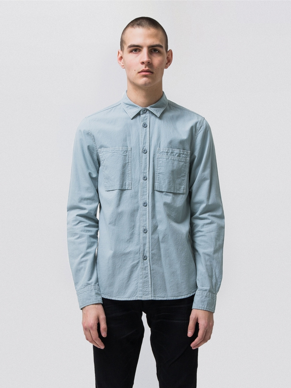 Henry Army Shirt Blue Metal long-sleeved shirts