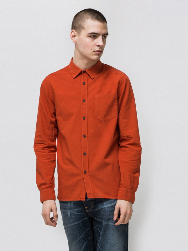 Henry Batiste Garment Dye Terra long-sleeved shirts